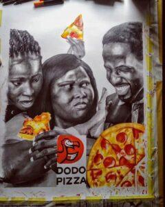 """Российская """"Додо-пицца"""" продолжает радовать нас африканским контентом."""